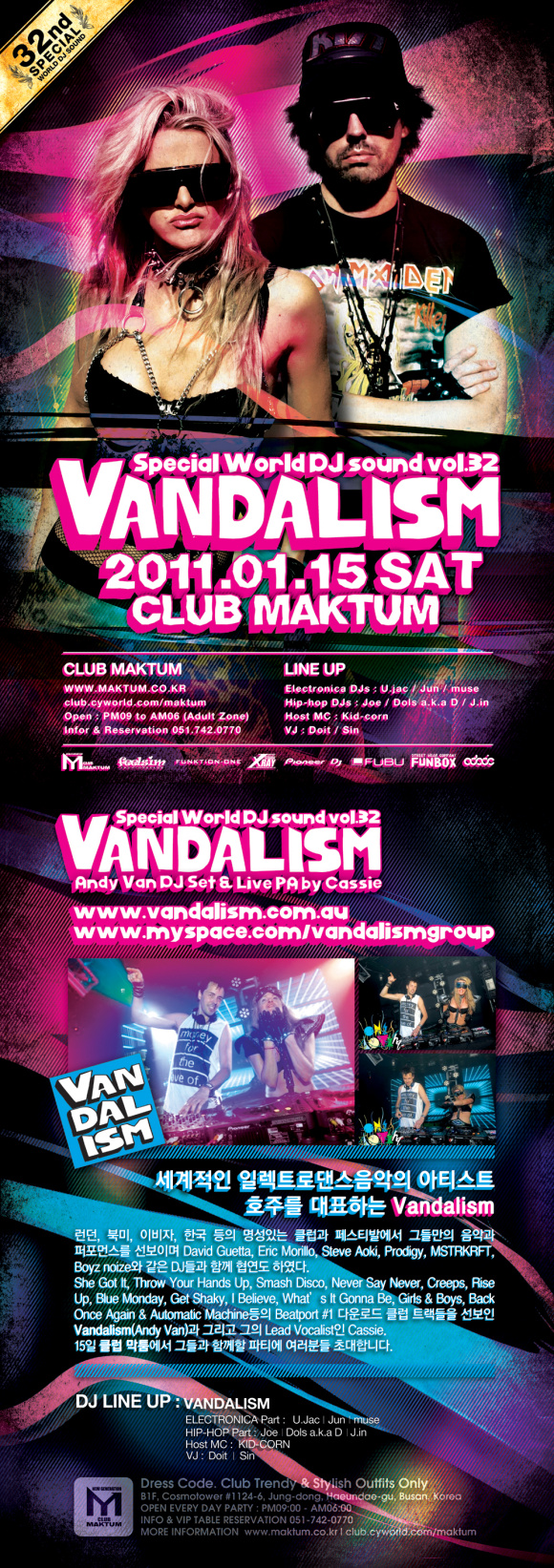 THIS WEEKEND! VANDALISM IN CLUB MAKTUM