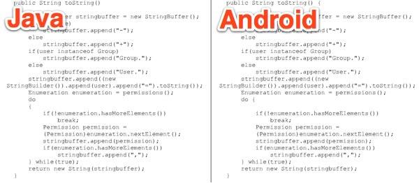 구글, 자바 코드를 그대로 카피하다(업데이트)
