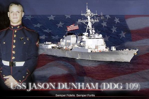새로운 알레이버크급 구축함 USS 제이슨 덤햄(D..