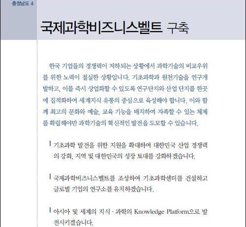 과학벨트논란, 이명박 대통령 충청도민 우롱하는..