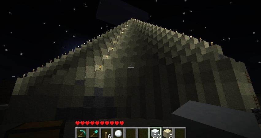 친구가 건설중인 피라미드