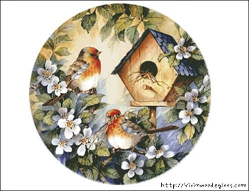 새(鳥) 십자수