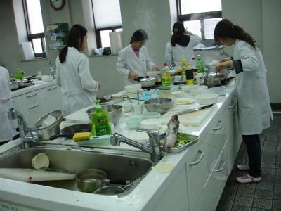 동남보건대학 식품영양과 맛있는 한식조리실습 현장!