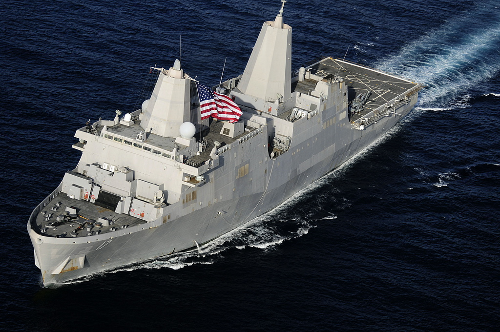 또다른 문제에 직면한 미 해군상륙함 샌 안토니오호