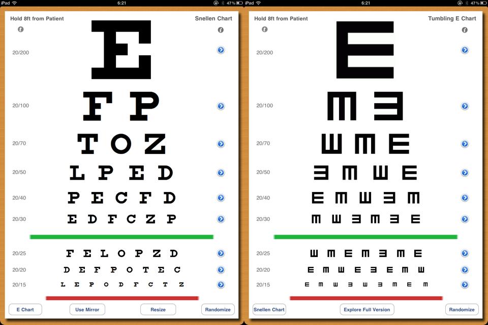 아이패드로 시력을 체크해 보세요 Eye Chart Pro..