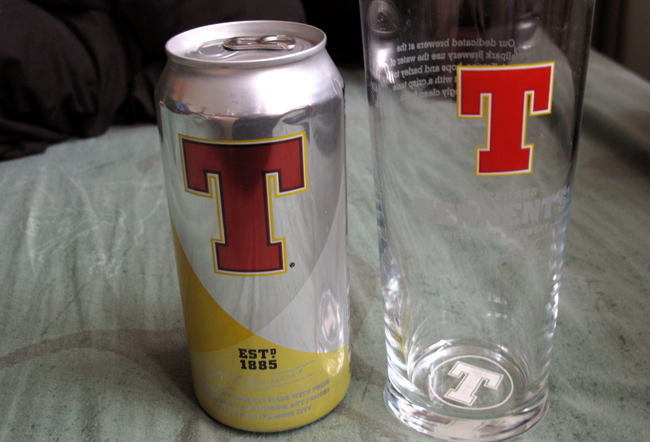 Tennents Lager. The Big T.