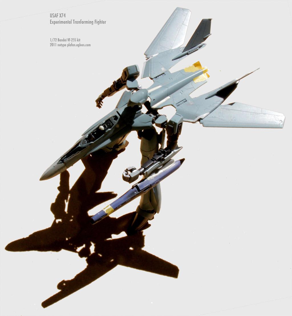 [프라모델] 반다이 1/72 USAF X-74 (3) - 변신로..