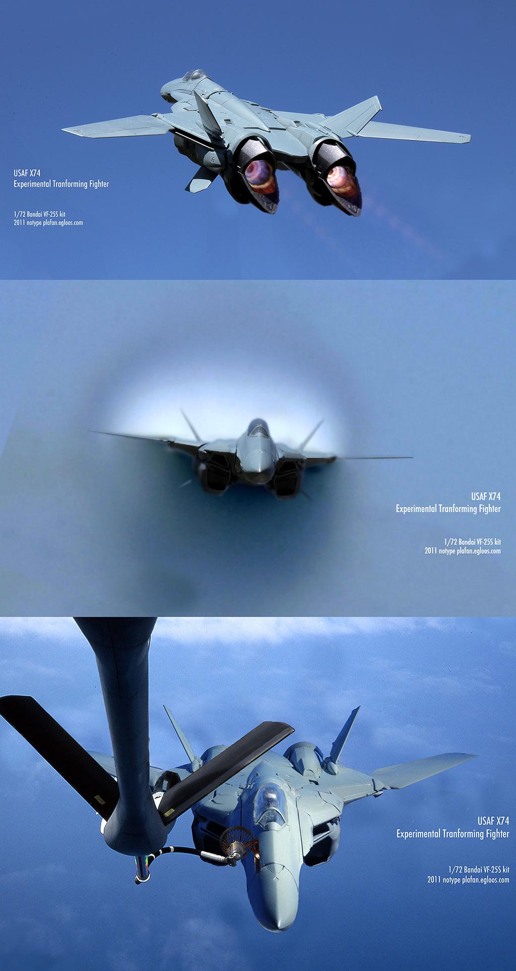 USAF X-74 - 시험비행 Test flight