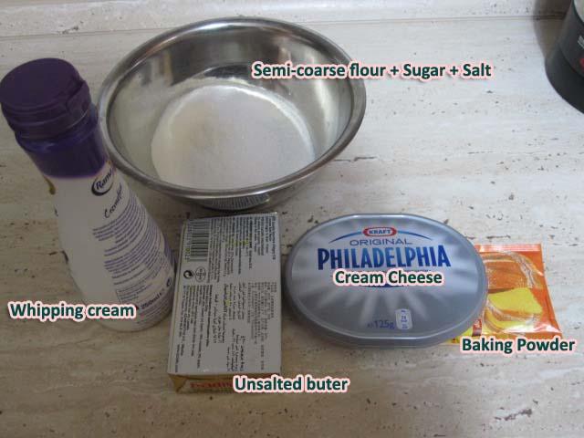 레시피 파괴 첫 베이킹 - Cream Cheese Scone