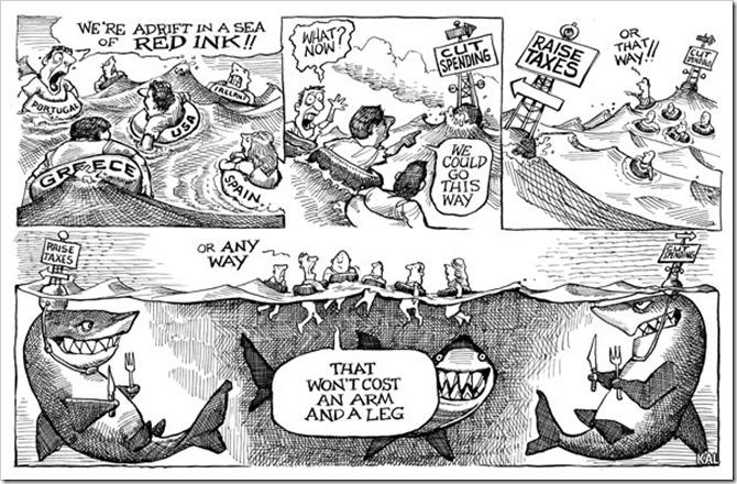 적자의 바다에 빠져 표류하는 국가들