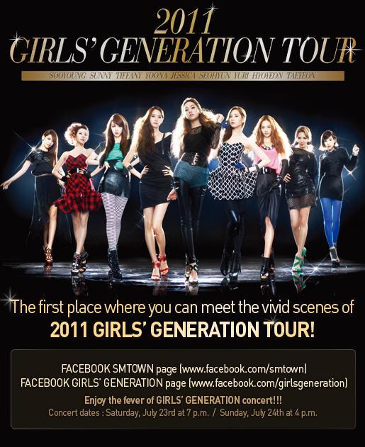 2011 GIRLS' GENERATION TOUR POSTER IMAGE..