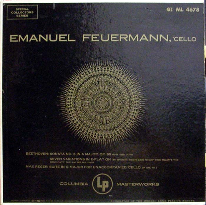 Emmanuel Feuermann; Some EMI recordings