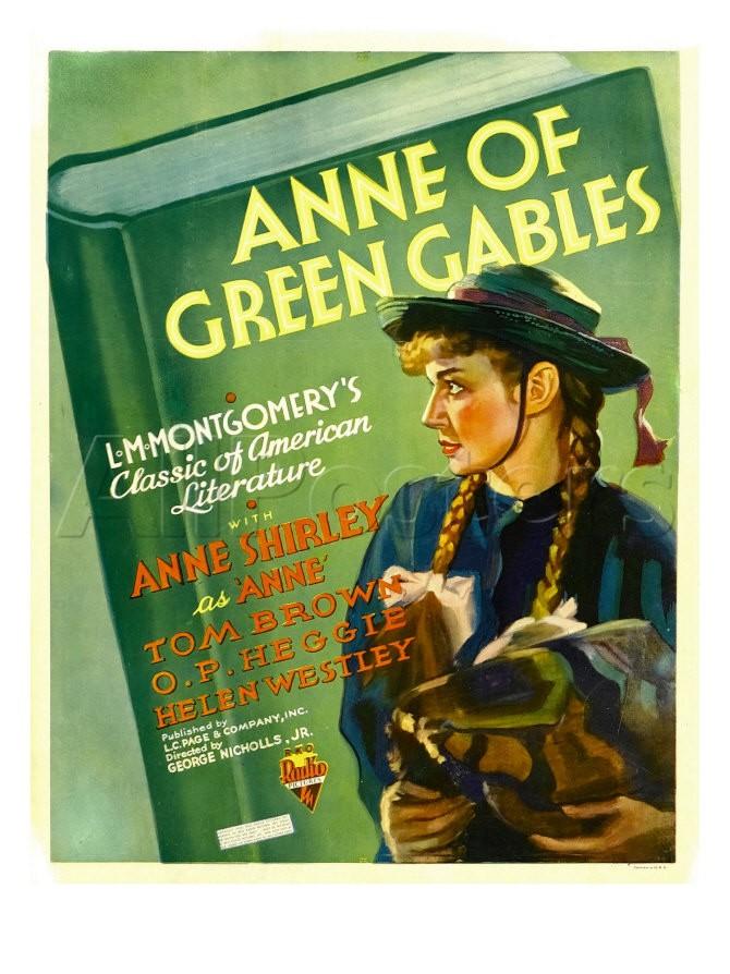 1934년 빨강머리 앤 흑백영화 포스터와 스틸컷