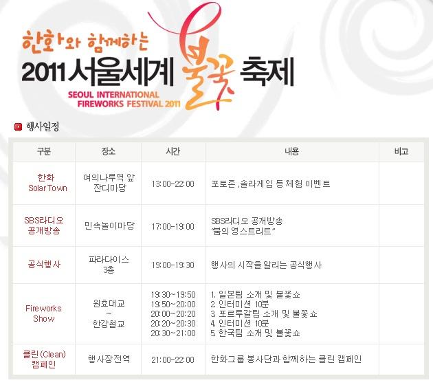 2011.10.08 서울 세계 불꽃축제와 축제, 그리고 가장..