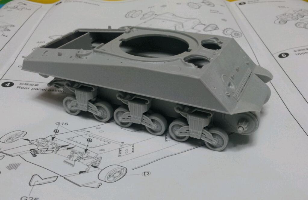 [M4A3] 하체 조립중...