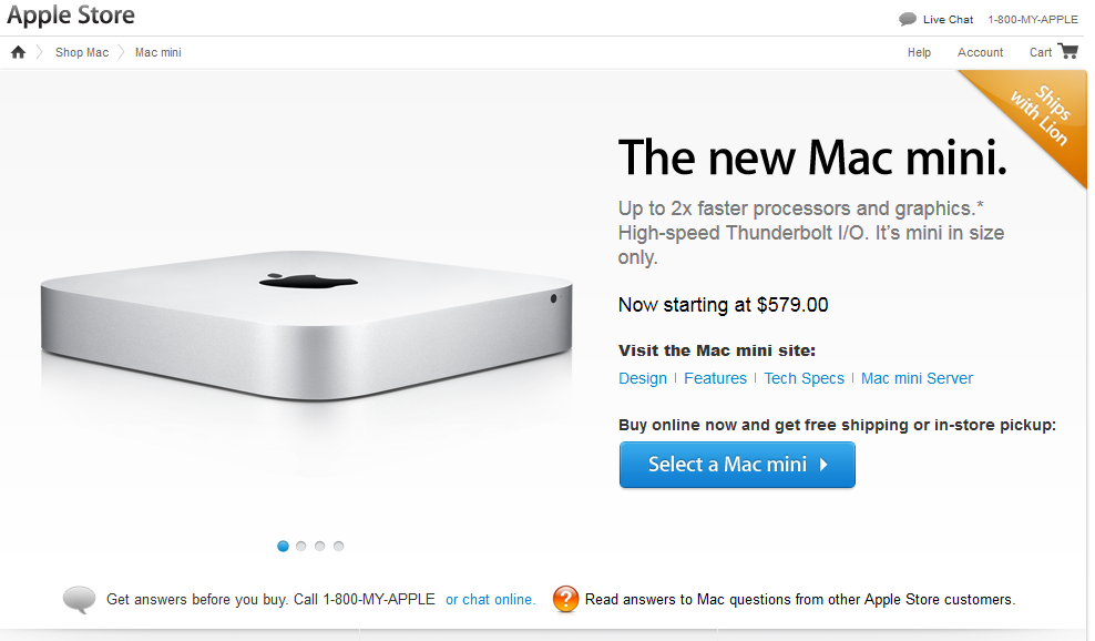 [지름] Apple Mac Mini : Dual Core i5 2.5Ghz..