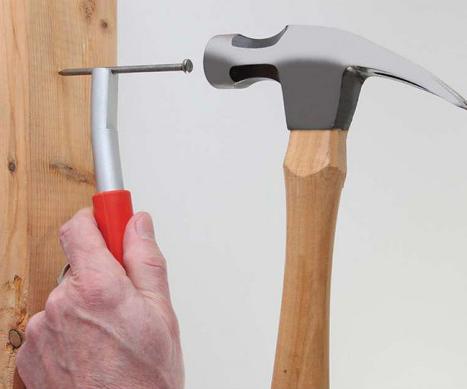 못 박기 보조 도구 : 손 보호용