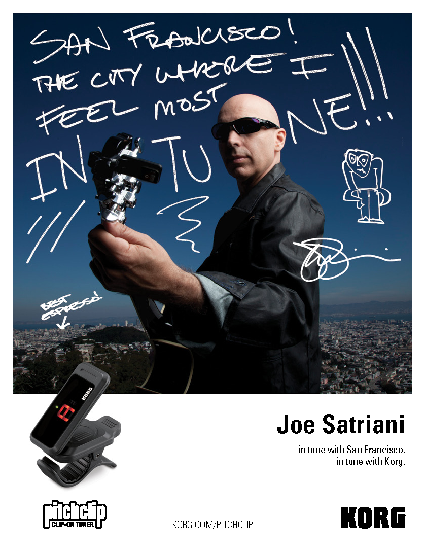 [Korg/PC-1] Korg Pitch Clip With Joe Satriani!