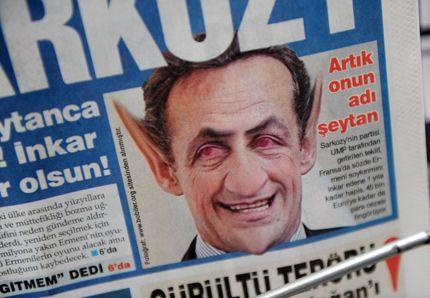 """[터키] """"사르코지는 악마다!"""""""