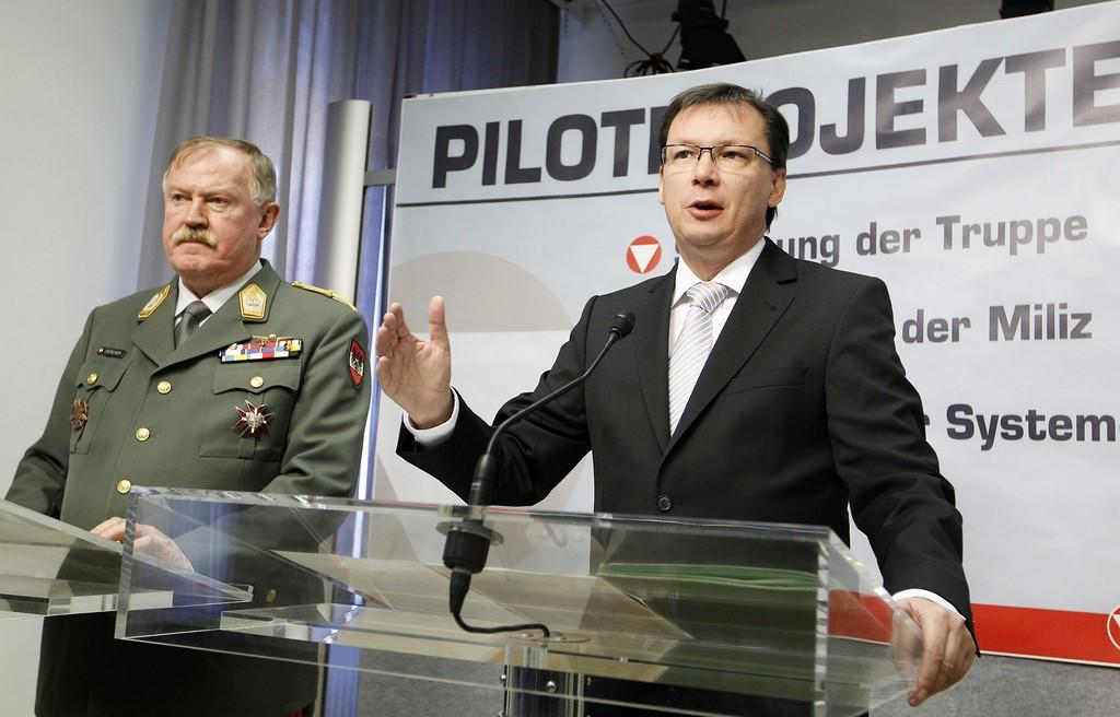 직업군인제를 향한 시범사업을 실시하는 오스트리아