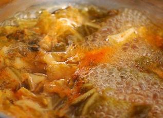 얼큰한김치칼국수/김치칼국수요리법
