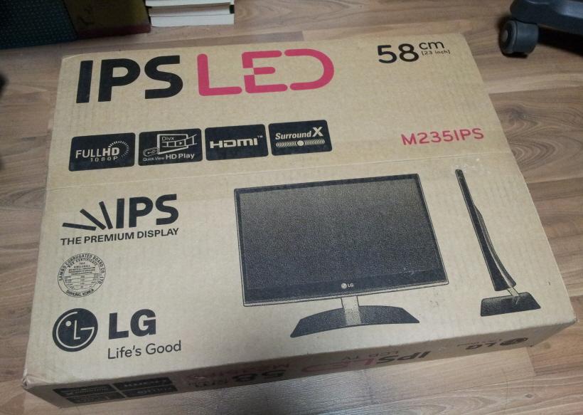 LG 23인치 'IPS LED HDTV' 모니터 개봉기