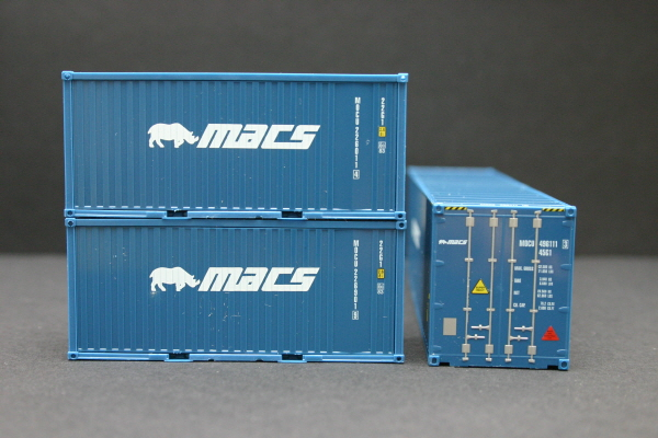 [모형] Container set MACS  by herpa