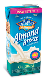 My morning alarm : Almond breeze milk