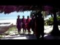 마사이족의 작은 공연