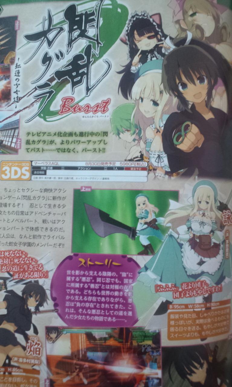 게임 '섬란 카구라' TV 애니메이션화 기획 진행중?