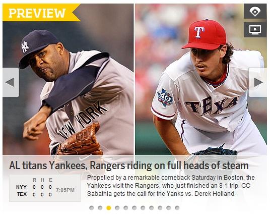 MBC Sports 플러스 '양키스 vs 텍사스' 생중계
