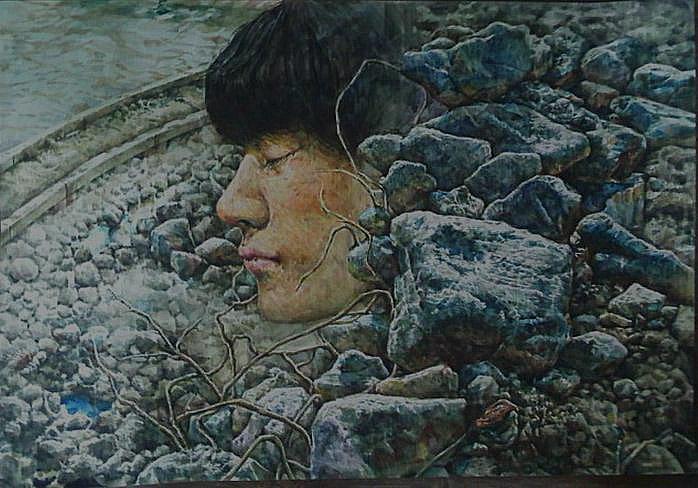 物我一體 78.8X54.5 ,by watercolor