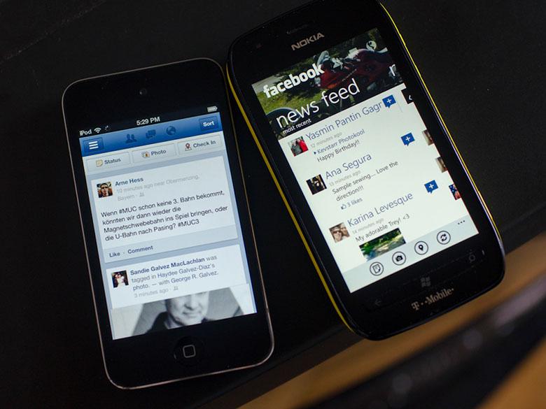 아이폰 앱 vs 윈도폰 앱
