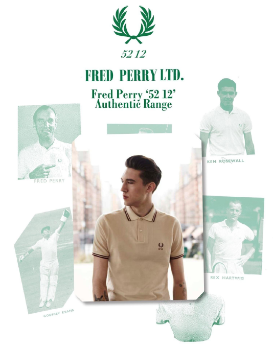 Fred Perry 60 Years Authentic Collection : '52 12'..