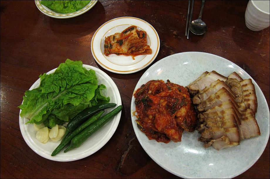 [명리(名利)] 롯데월드 민속관 식당 보쌈정식..