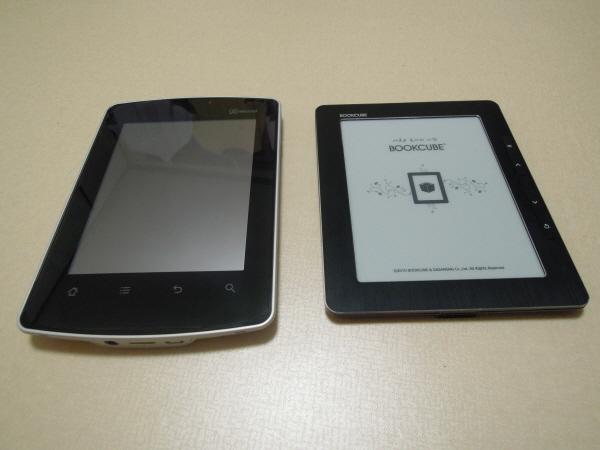 미라솔, e-Ink 기반 전자책단말기와의 살짝 비교