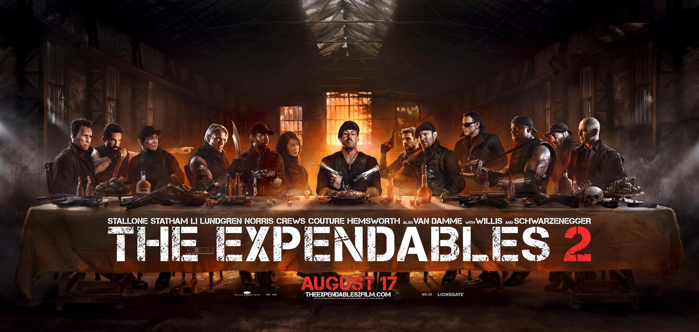 '익스펜더블2' 최후의 만찬 컨셉 포스터 공개