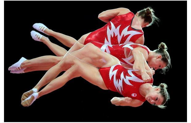 첫 금메달.. 환호하는 캐나다