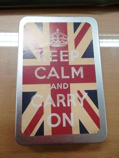 """진짜 """"지름""""-keep calm and carry on 스티커."""